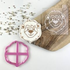 Lion Jungle Cookie Cutter and Embosser
