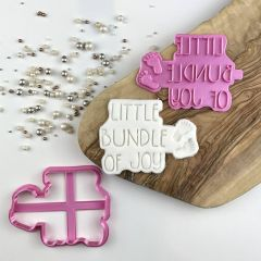 Little Bundle of Joy Baby Shower Cookie Cutter and Stamp