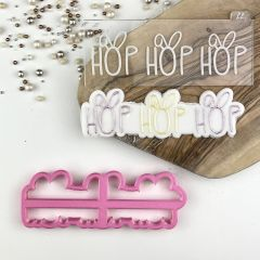 Hop Hop Hop with Rabbit Ears Easter Cookie Cutter and Embosser