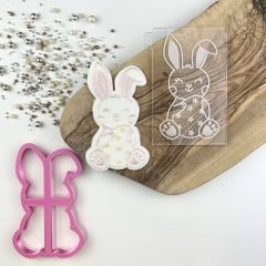 Easter Rabbit Cookie Cutter and Embosser