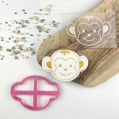 Monkey Jungle Cookie Cutter and Embosser