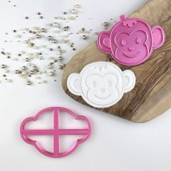 Monkey Jungle Cookie Cutter and Stamp