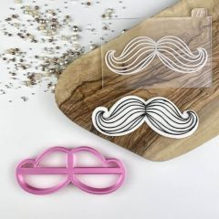 Moustache Cookie Cutter and Embosser