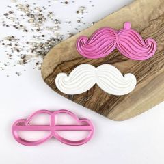 Moustache Cookie Cutter and Stamp
