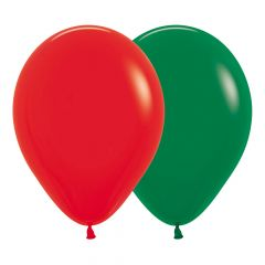 Ballonger Rød/Grønn ass Fashion 30cm, 12 PK
