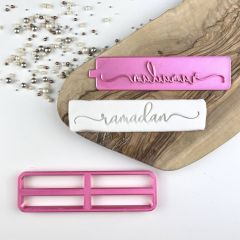 Ramadan in Verity Font Cookie Cutter and Stamp