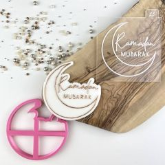 Ramadan Mubarak Style 1 with Moon Cookie Cutter and Embosser
