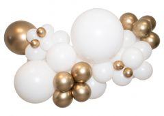Ballongoppsats Hvit med Gull