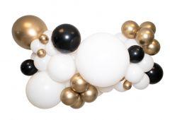 Ballongoppsats Hvit med Gull og Sort
