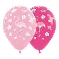 Ballonger Flamingo Rosa ass 30cm, 12 PK