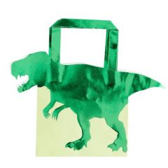Partybag papir Dinosaurus 5 stk, 22x19cm