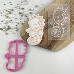 Seahorse Under The Sea Cookie Cutter and Embosser