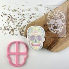 Skull Halloween Cookie Cutter and Embosser