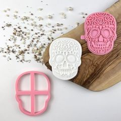Skull Halloween Cookie Cutter and Stamp