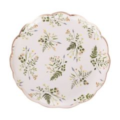 Papptallerken Floral Tea Party 21,5 cm, 8 stk