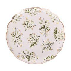 Papptallerken Floral Tea Party 21,5 cm, 8 stk