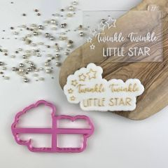 Twinkle Twinkle Little Star Baby Shower Cookie Cutter and Embosser