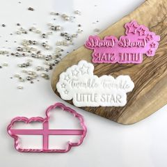 Twinkle Twinkle Little Star Baby Shower Cookie Cutter and Stamp