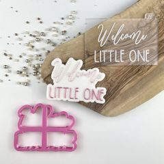 Welcome Little One Baby Shower Cookie Cutter and Embosser